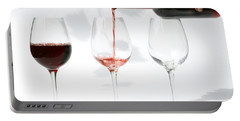 Pouring Red Wine Into Glass Portable Battery Charger