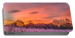 Illinois Prairie Moments Before Sunrise Portable Battery Charger