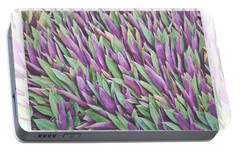 Portable Battery Charger featuring the photograph Purple And Green by Holly Kempe