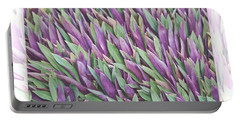 Purple And Green Portable Battery Charger by Holly Kempe