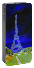 Purple Eiffel Portable Battery Charger