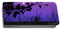 Portable Battery Charger featuring the photograph Purple Moon by Marianne NANA Betts