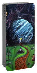 Portable Battery Charger featuring the painting Quantum Dementia by Ryan Demaree