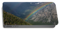 Rainbow At Beartooth Pass Portable Battery Charger
