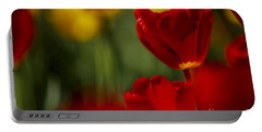 Red And Yellow Tulips Portable Battery Charger