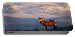 Portable Battery Charger featuring the photograph Red Deer Stag by Gavin Macrae