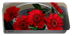 Red Flowers. Special Portable Battery Charger