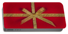 Red Gift With Gold Ribbon Portable Battery Charger