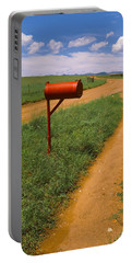 Red Mailbox At The Roadside, San Rafael Portable Battery Charger