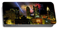 21l334 Red White And Boom Fireworks Display Photo Portable Battery Charger