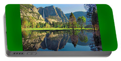 Reflections Of Yosemite Falls Portable Battery Charger