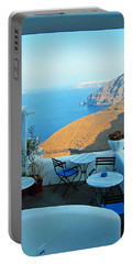 Resting Place In Santorini Portable Battery Charger