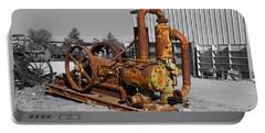 Retired Petroleum Pump Portable Battery Charger by Richard J Cassato