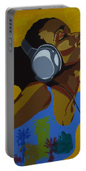 Portable Battery Charger featuring the painting Rhythms In The Sun by Rachel Natalie Rawlins