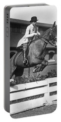 Rider Jumps At Horse Show Portable Battery Charger
