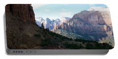 Road Through Zion National Park Portable Battery Charger