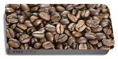 Portable Battery Charger featuring the photograph Roasted Coffee Beans by Lee Avison