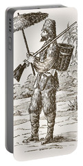 Robinson Crusoe, Illustration From The Portable Battery Charger