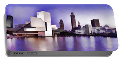 Portable Battery Charger featuring the photograph Rock And Roll Hall Of Fame - Cleveland Ohio - 3 by Mark Madere