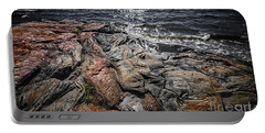 Rock Formations At Georgian Bay Portable Battery Charger