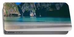 Rock Formations In The Sea, Phi Phi Portable Battery Charger