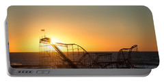 Roller Coaster Sunrise Portable Battery Charger