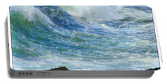 Rough Seas Portable Battery Charger by Mariarosa Rockefeller
