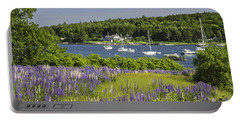 Round Pond Lupine Flowers On The Coast Of Maine Portable Battery Charger