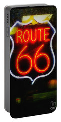Portable Battery Charger featuring the photograph Route 66 Edited by Kelly Awad