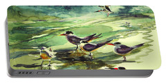 Royal Terns And Black Skimmers Portable Battery Charger