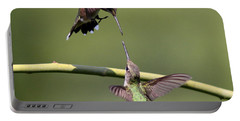 Ruby-throated Hummingbird Portable Battery Charger by Travis Truelove