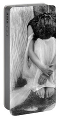 Sad Angel Woman Portable Battery Charger
