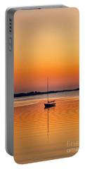 Sailboat At Sunset Portable Battery Charger