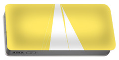 Sailboat In Yellow And White Portable Battery Charger