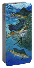 Sailfish With A Ball Of Bait Portable Battery Charger