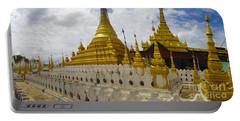 Portable Battery Charger featuring the photograph Sandamuni Pagoda Mandalay Burma by Ralph A  Ledergerber-Photography