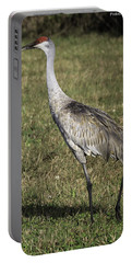 Sandhill Crane Portable Battery Charger by Fran Gallogly