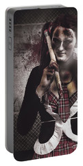 Scary Zombie School Student Holding Monster Pencil Portable Battery Charger