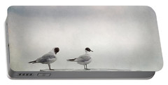 Seagulls Portable Battery Charger by Priska Wettstein