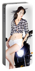 Sexy Biker Girl Portable Battery Charger