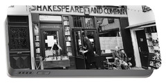 Shakespeare And Company Bookstore In Paris France Portable Battery Charger