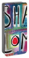 Shalom Portable Battery Charger by Linda Woods