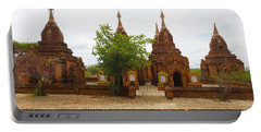 Portable Battery Charger featuring the photograph Smaller Temples Next To Dhammayazika Pagoda Built In 1196 By King Narapatisithu Bagan Burma by Ralph A  Ledergerber-Photography