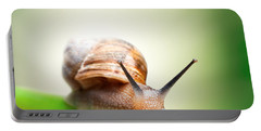 Snail On Green Stem Portable Battery Charger
