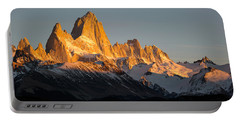 Snowcapped Mountain Range, Mt Fitzroy Portable Battery Charger