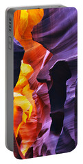Portable Battery Charger featuring the photograph Somewhere In America Series - Antelope Canyon by Lilia D