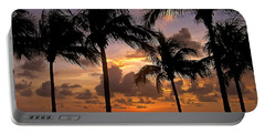 Portable Battery Charger featuring the photograph South Florida Sunset by Carol  Bradley