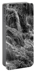 Spain, Aragon, Waterfall On Grounds Portable Battery Charger