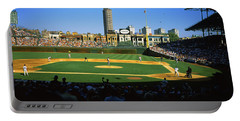 Spectators In A Stadium, Wrigley Field Portable Battery Charger