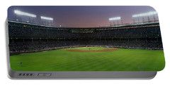 Spectators Watching A Baseball Match Portable Battery Charger by Panoramic Images